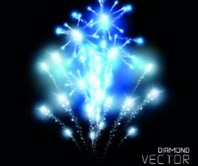 Firework objects vector design 03