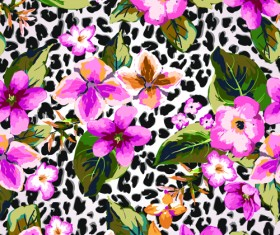 Seamless Flower Patterns vector 03