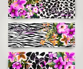 Vintege Flower banner