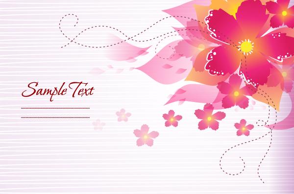 Flower illustrations vector background 10 - Vector Background, Vector ...