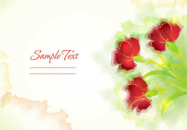 Flower Illustrations Vector Background 12 Vector