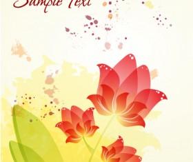 Flower illustrations vector background 25