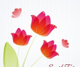 Flower illustrations vector background 26