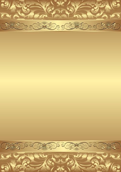 Luxury Golden Vector Background 01 Free Download