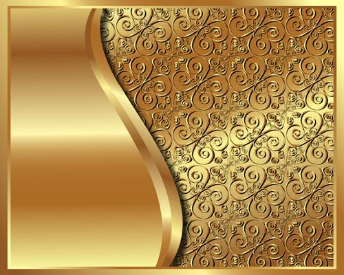 Luxury Golden Vector Background 07