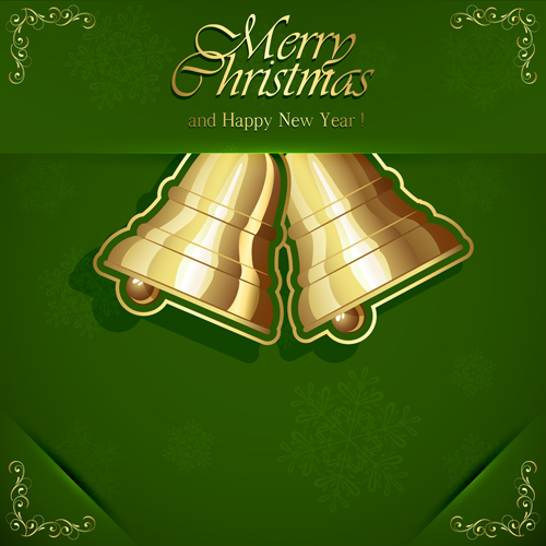 Green style xmas card vector 06