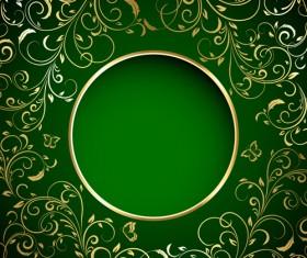 Green style xmas card vector 07