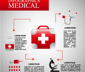 Health with Medical elements vector 02