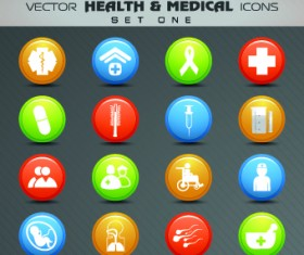 Health with Medical icons vecttor set 01