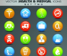 Health with Medical icons vecttor set 02