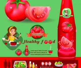 Healthy food flyer template vector 02