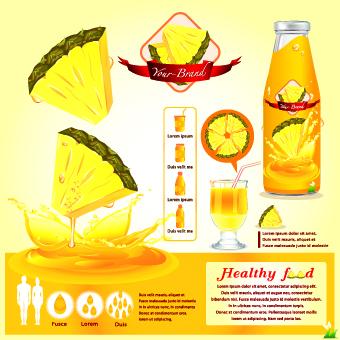 healthy food flyer template vector 07 free download