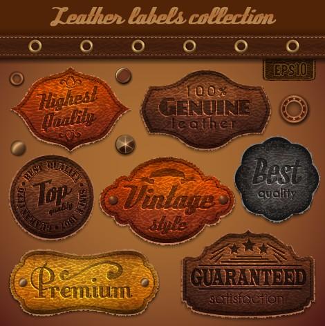 Vintage Leather labels set 02