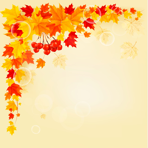 Maple Leaf vector background art 01