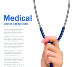 Vector set of Medical background Illustration 03