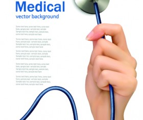 Vector set of Medical background Illustration 04