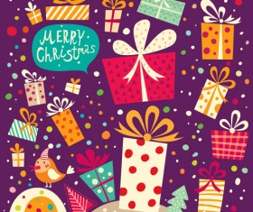 2014 Cute Cartoon Christmas elements vector 03
