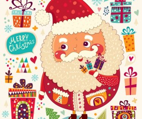 2014 Cute Cartoon Christmas elements vector 04