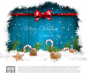 New Year 2014 Christmas elements set vector 12