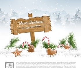 New Year 2014 Christmas elements set vector 13