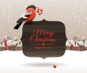 New Year 2014 Christmas elements set vector 03