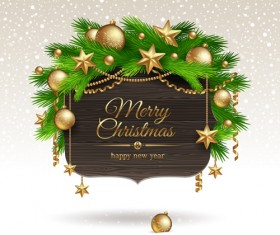 New Year 2014 Christmas elements set vector 04