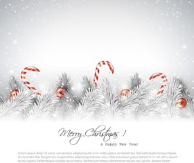 New Year 2014 Christmas elements set vector 06