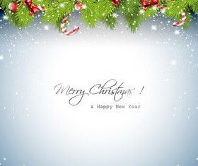 New Year 2014 Christmas elements set vector 07