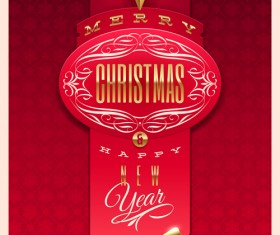 New Year 2014 Christmas elements set vector 08