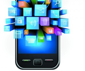 Vector phone template design 05