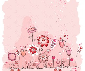 Pink style kid card designs vector 04