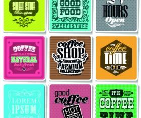 Retro food labels illustration vector 07