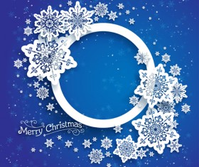 Christmas snowflakes backgrounds vector 01