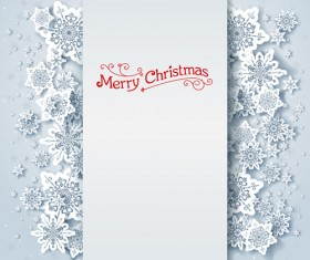 Christmas snowflakes backgrounds vector 02