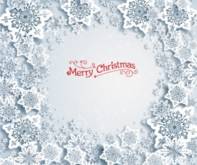Christmas snowflakes backgrounds vector 03