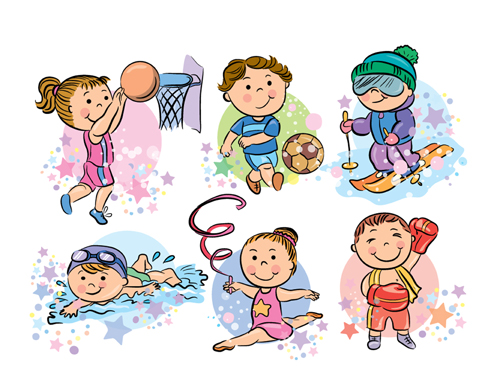 Sports People Cartoon Vector 02 Free Download