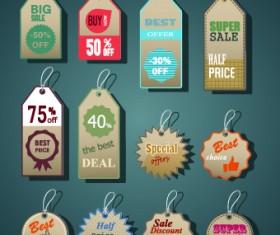 Vintage tags big sale vector 01