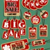 Vintage tags big sale vector 02
