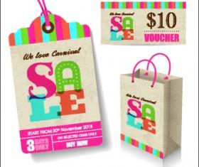Vintage tags big sale vector 03