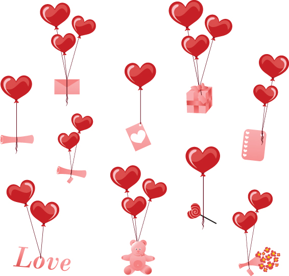 Valentines Day Romantic Ornaments Vector 01 Free Download