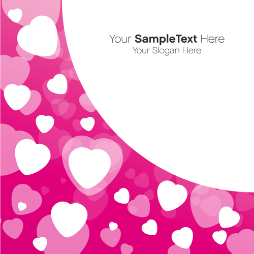 Valentines Day creative background vector 03