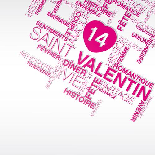 Valentines Day creative background vector 05