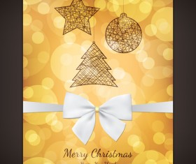 Vintage 2014 christmas background design vector 01