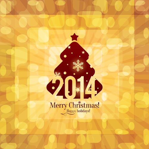 Vintage 2014 christmas background design vector 03