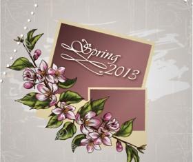 Vintage Spring floral background 28