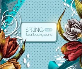 Vintage Spring floral background 30