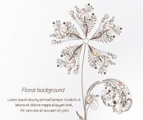 Vintage Spring floral background 32