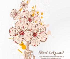 Vintage Spring floral background 33