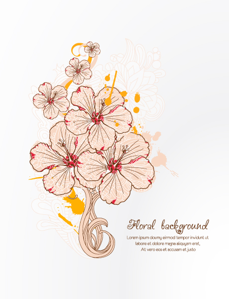 Vintage Spring floral background 33