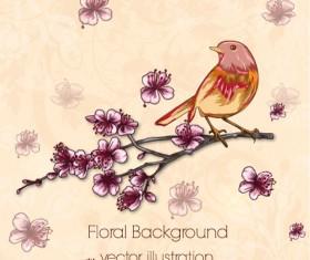 Vintage Spring floral background 36